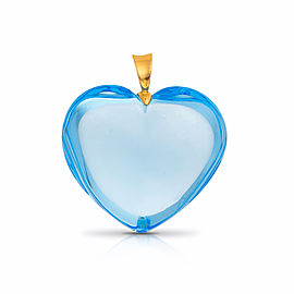 Baccarat Blue Crystal Heart Pendant