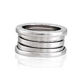 Bulgari 18k White Gold 4 Band B.Zero 1 Ring Size 5
