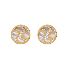Bulgari 18K Yellow Gold Mother Of Pearl Earrings