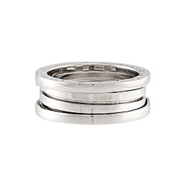Bulgari B.Zero1 18K White Gold Three Band Ring Size 9.75