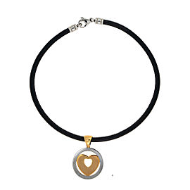 Bulgari 18K Yellow Gold Stainless Steel Tondo Heart Necklace