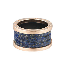 Bulgari 18k Rose Gold and Lapis Ring Size 6.25