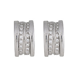 Bulgari B.Zero 1 18K White Gold with 1.08ctw Diamonds Earrings