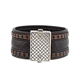 Bottega Veneta intrecciato 925 Sterling Silver Bracelet
