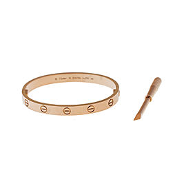 Cartier Love 18k Rose Gold Size 16 Bracelet
