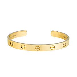 Cartier Love Open Cuff 18K Yellow Gold Size 17