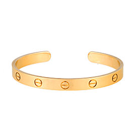 Cartier 18K Yellow Gold Love Cuff Bracelet 17