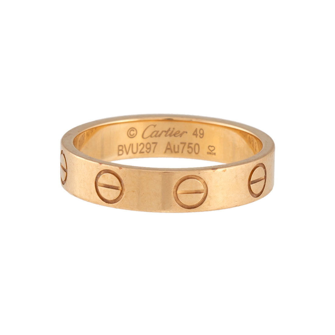 cartier love ring yellow gold