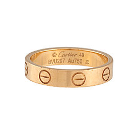 Cartier Love Ring 18K Yellow Gold Size 4.75
