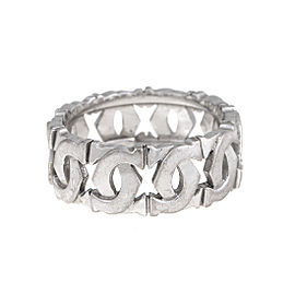 Cartier 18K White Gold C Wide Ring Size 9