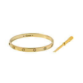 Cartier Love Bracelet Yellow Gold Size 19