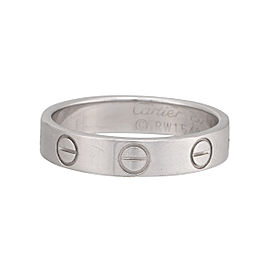 Cartier Love Wedding Band 18k White Gold Size 4.5