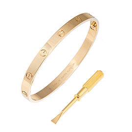 Cartier 18K Yellow Gold Love Bracelet Size 19