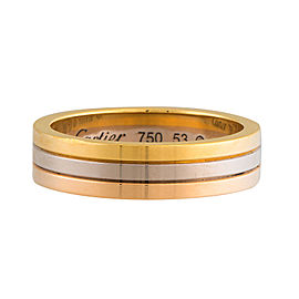Cartier 18K Trinity Wedding Band Size 6.25