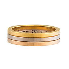 Cartier 18K Trinity Wedding Band Size 6.25