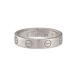 Cartier Platinum Love Wedding Band Size 5.25