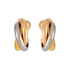 Cartier Trinity 18K White, Yellow & Rose Gold Earrings