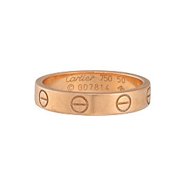 Cartier Love 18K Rose Gold Wedding Band Size 5.25