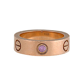 Cartier 18K Rose Gold Pink Sapphire Love Ring