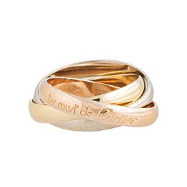 Cartier 18K Yellow, White & Pink Gold Trinity Ring Size 6