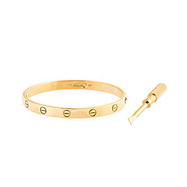 Cartier Love Bracelet 18K Yellow Gold Size 18.0