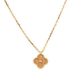 Van Cleef & Arpels Sweet Alhambra Rose Gold Necklace