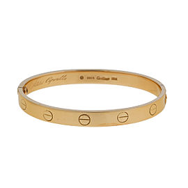 Cartier Love 18k Yellow Gold Bracelet Size 16