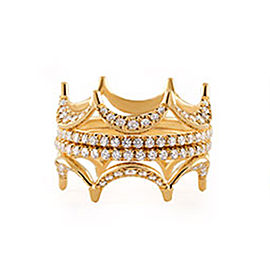 Jado Crown Sunshine Quartet 18k Yellow Gold Diamonds Ring