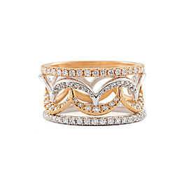 Jado Crown Luminosity Sunshine Quartet 18k White Gold with Rhodium Plating Diamonds Ring