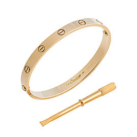 Cartier Love 18K Yellow Gold Bracelet Size 18