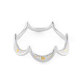 Jado Crown Flora Luminous Smile 18k White Gold Ring