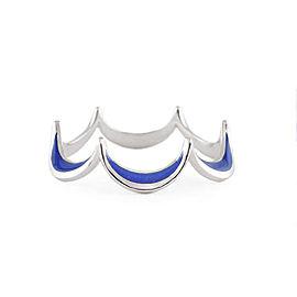 Jado Crown Flora Ocean Blue 18k White Gold with Rhodium Plating Ring
