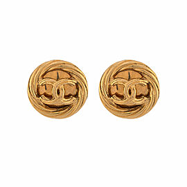 Vintage Chanel Gold Tone CC Clip-on Earrings