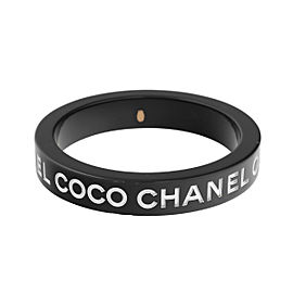 Chanel Coco Black Resin Bracelet