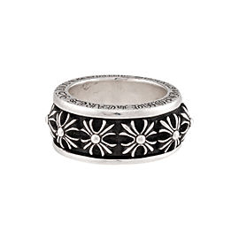 Chrome Hearts 925 Sterling Silver Cross Spinner Ring Size 12