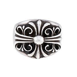 Chrome Hearts 925 Sterling Silver Cross Ring Size 11