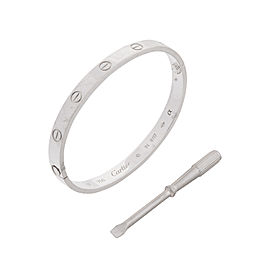 Cartier Love White Gold Bracelet Size 17