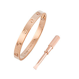 Cartier Love Bracelet 18K Rose Gold Size 16