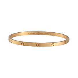 Cartier Love 18k Yellow Gold Small Model Bracelet Size 18