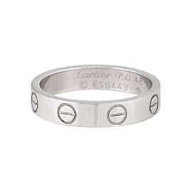 Cartier Mini Love Ring 18K White Gold Size 4.5