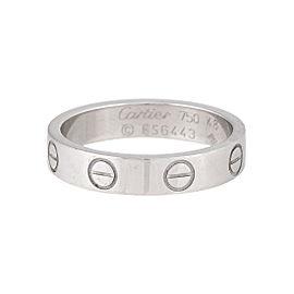 Cartier Mini Love Ring 18K White Gold Size 4.5