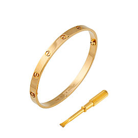 Cartier Love Bracelet 18K Yellow Gold Size 21