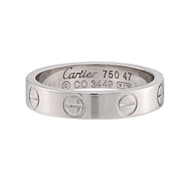 Cartier Mini Love Ring 18K White Gold Size 4