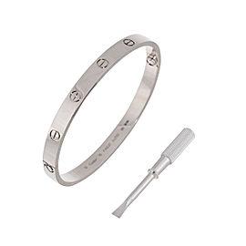 Cartier Love Bracelet 18K White Gold Size 19