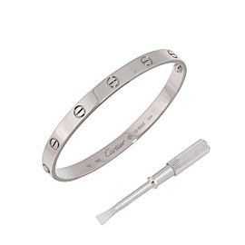 Cartier Love Bracelet 18K White Gold Size 19