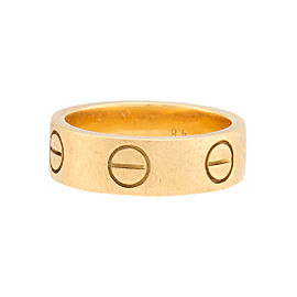 Cartier Love Ring 18k Yellow Gold Size 4.5