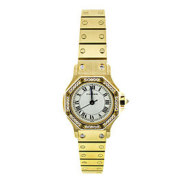 Cartier 18k Yellow Gold Santos Octagon Watch