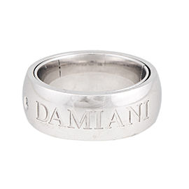 Damiani 18K White Gold Orbital 0.02ct. Diamond Ring Size 6.5