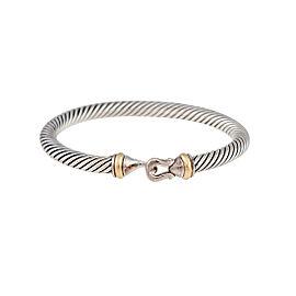 David Yurman Buckle Bracelet Sterling Silver 18k Yellow Gold