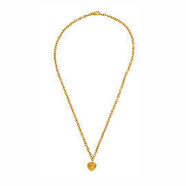 David Yurman 18K Yellow Gold Cable Heart Pendant Necklace